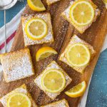 The BEST Lemon Bars recipe! Lusciously creamy and bursting with bright lemon, these easy lemon squares with shortbread base take less than 10 minutes to prep and always wow the crowd.