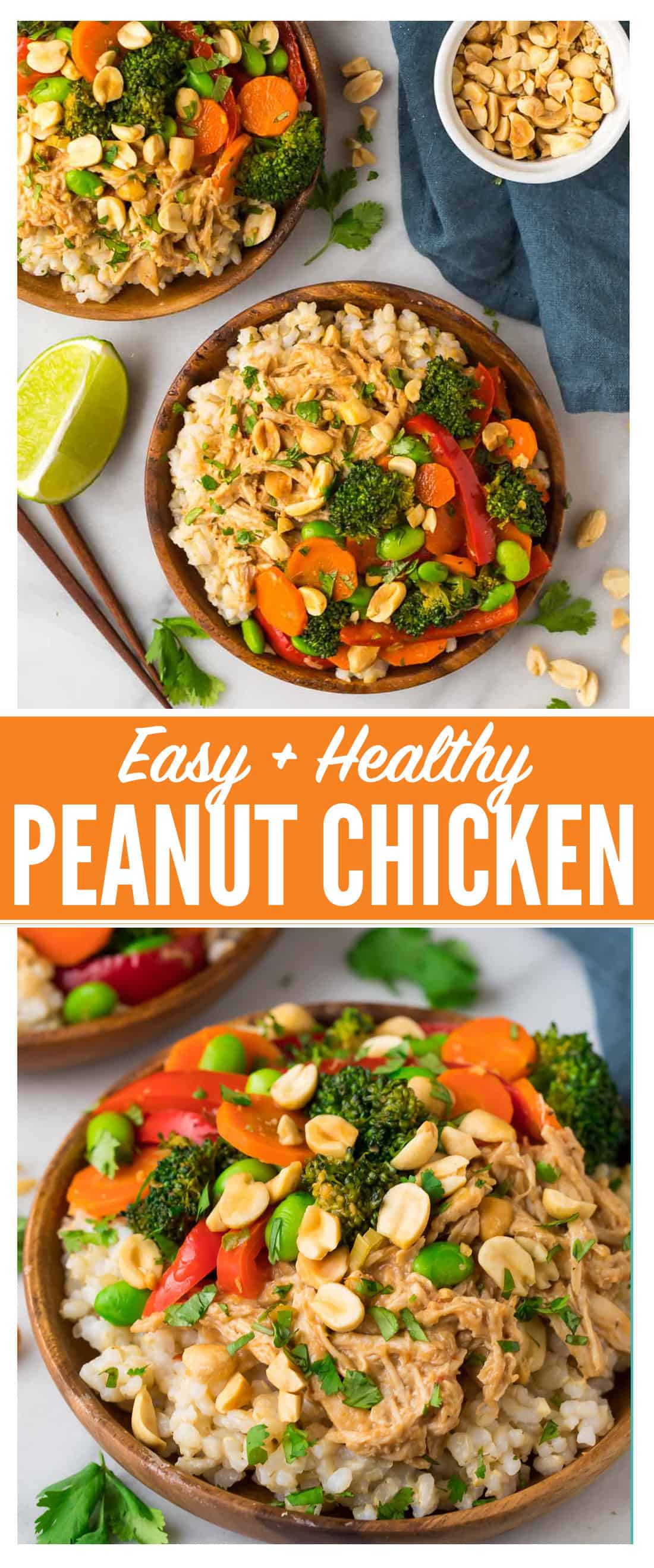 Peanut Chicken With Veggies And Rice