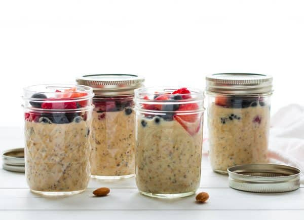 Easy Overnight Steel Cut Oats. These make ahead steel cut oats are perfect for storing in the refrigerator. Portion it out in a jar with your desired mix-ins for a healthy, delicious breakfast!