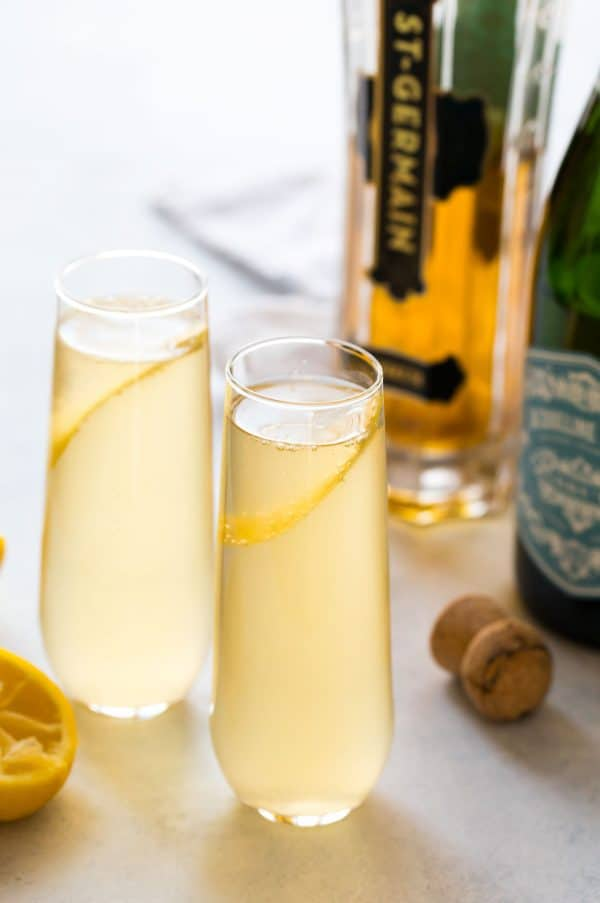 This Tanqueray or Hendrick's St Germain cocktail is a bubbly, refreshing drink that's perfect for brunch or parties!