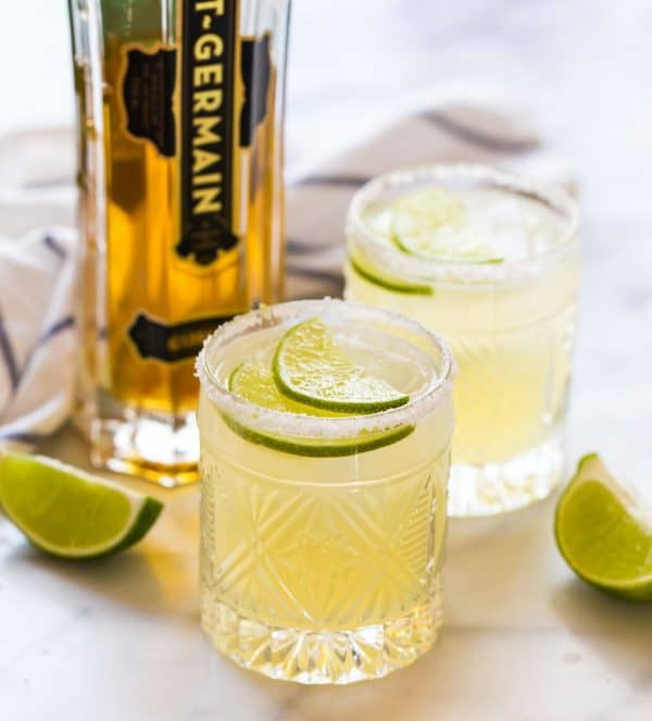 Light and refreshing elderflower margarita