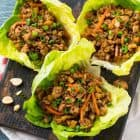 Asian lettuce wraps with chicken made in a crockpot
