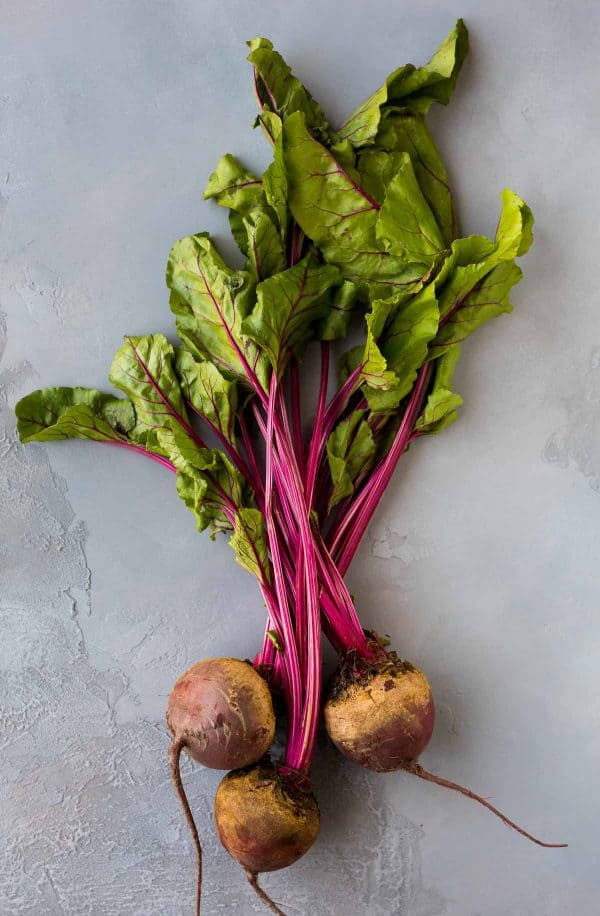 Raw beets for a beet smoothie recipe
