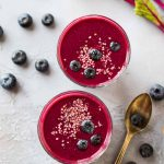 Blueberry Beet Smoothie. Sweet, creamy, and packed with fiber, protein, and antioxidants! This healthy breakfast smoothie is perfect for weightloss or for kids. Other beet smoothie benefits include reduction of blood pressure, detox, liver cleanse, and more. Recipe works with both raw or cooked beets and can be made in a Vitamix or regular blender.