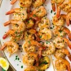 4-Ingredient Grilled Shrimp Seasoning. Perfect blend of spices for making the best easy grilled shrimp! Use this recipe for grilled garlic shrimp skewers in the summer or baked shrimp all year long.