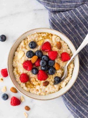 How to cook steel cut oats. The secret to making perfect steel cut oatmeal on the stovetop that turns out perfectly every time! Healthy and low calorie, this is the only oatmeal recipe you need. Simple, vegan, and high in fiber, steel cut oats keep you full all morning long.