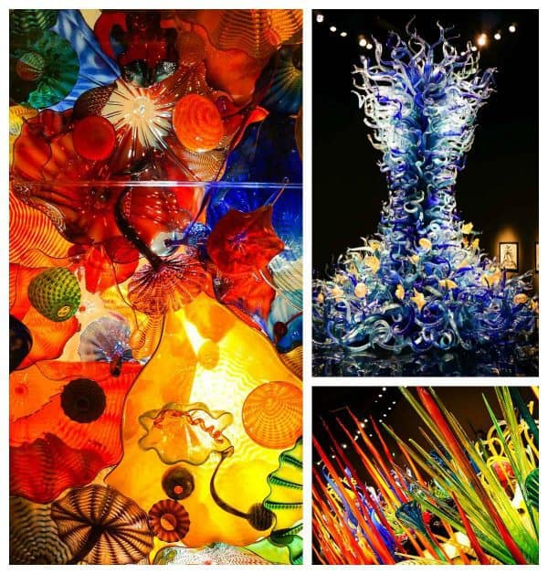 Multiple Chihuly glass exhibits