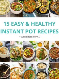 15 of the BEST Healthy Instant Pot recipes! Easy, family friendly recipe collection for the pressure cooker. List includes Instant Pot chicken recipes, to Instant Pot vegetarian recipes, to Instant Pot Stews, to Instant Pot Indian recipes, to sides and more! This list has something for everyone.