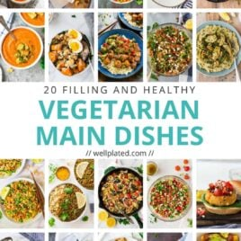 20 of the best healthy vegetarian dinner recipes. So satisfying and delicious, you won't miss the meat at dinner or any other meal! List includes soups, salads, pastas, stir fry, curry, and more!