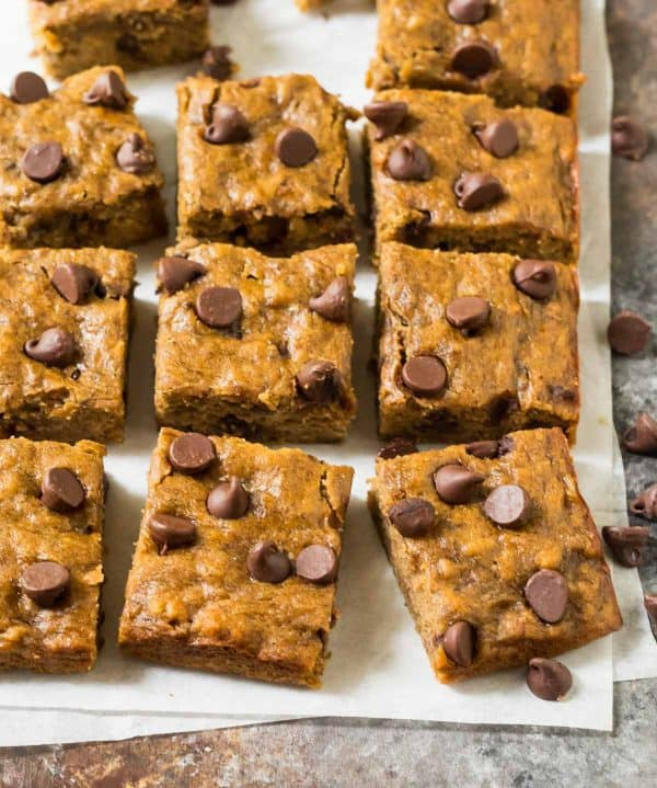 Easy Banana Bars with Chocolate Chips