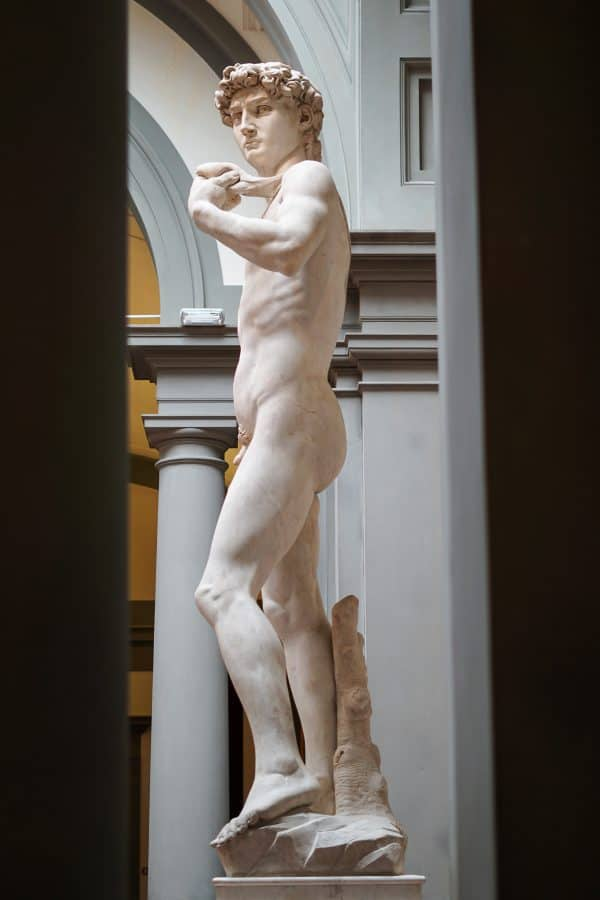 Michaelangelo's David in Florence.