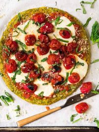 Low Carb Broccoli Pizza Crust. If you like cauliflower crust pizza, you have to try this broccoli version! Perfect for any of your favorite pizza toppings. Delicious and an easy way for families to sneak in extra veggies.