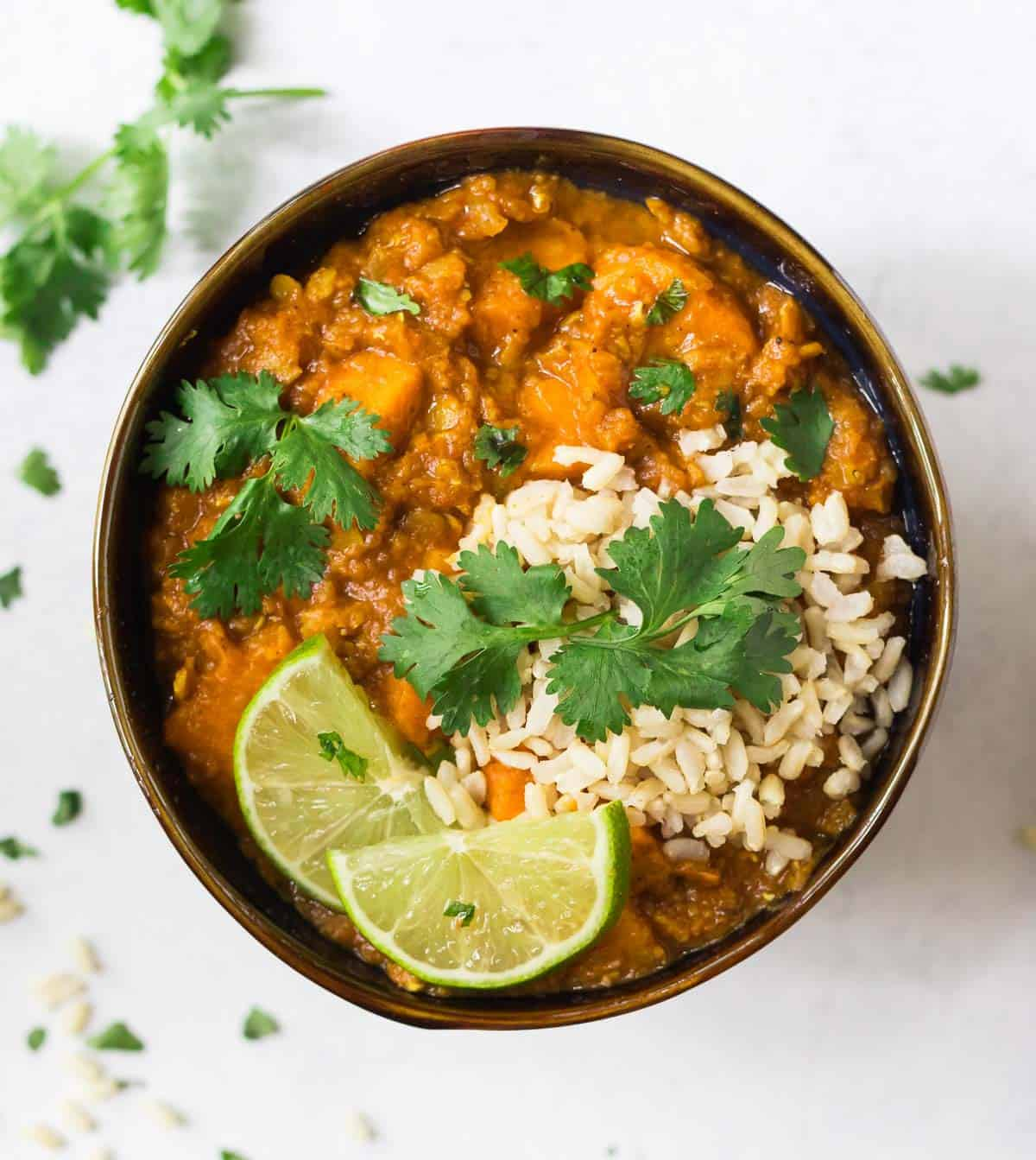 Red Lentil Curry With Sweet Potatoes Slow Cooker