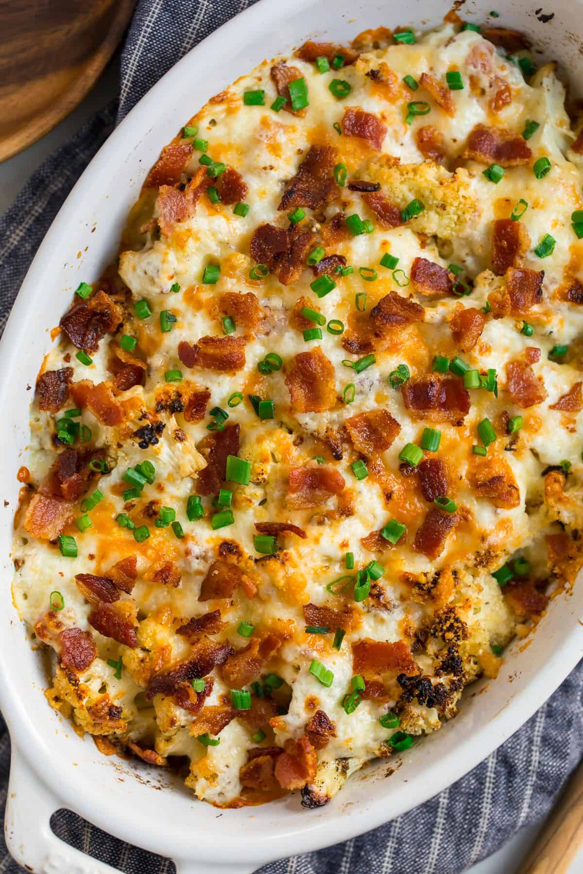 Cauliflower Casserole With Cream Cheese And Bacon
