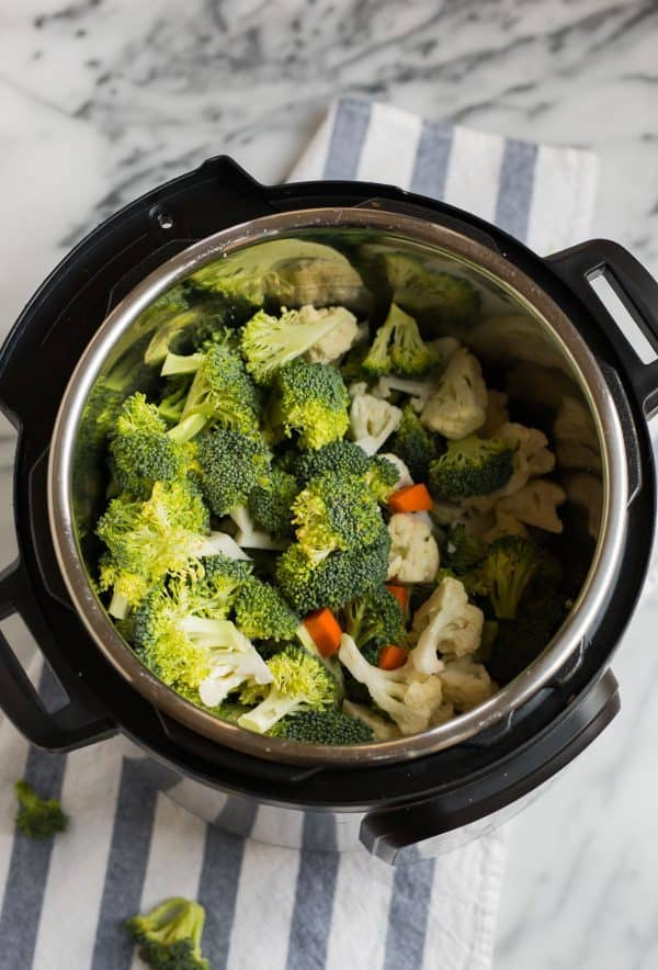 Healthy Instant Pot Broccoli Cheese Soup. Easy, gluten free, and vegan friendly!