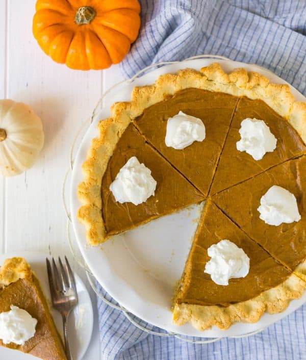 Vegan Pumpkin Pie. An easy, creamy no-bake recipe that is gluten free too!