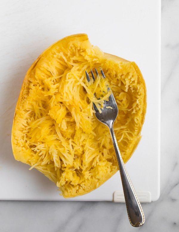 Crockpot Spaghetti Squash. This simple method for making spaghetti squash in the slow cooker is easy!