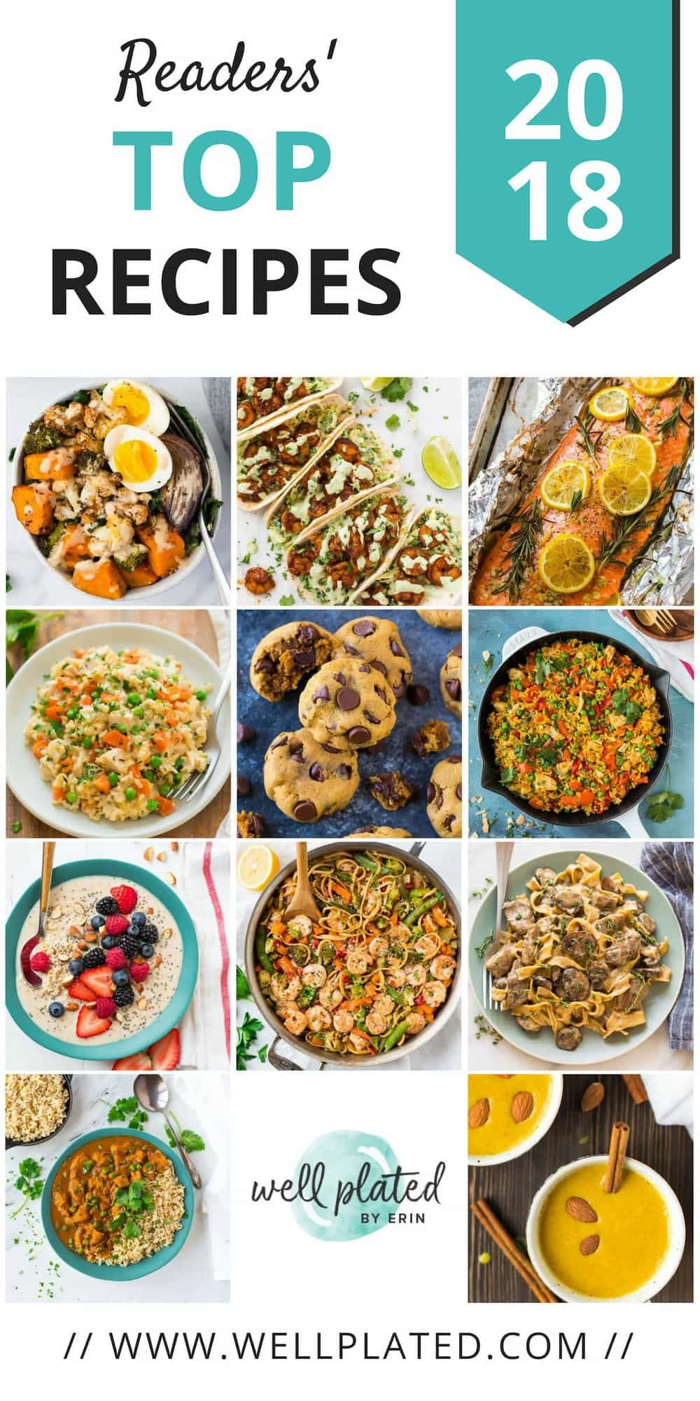 The Best Easy and Healthy Recipes of 2018. #wellplated #healthy