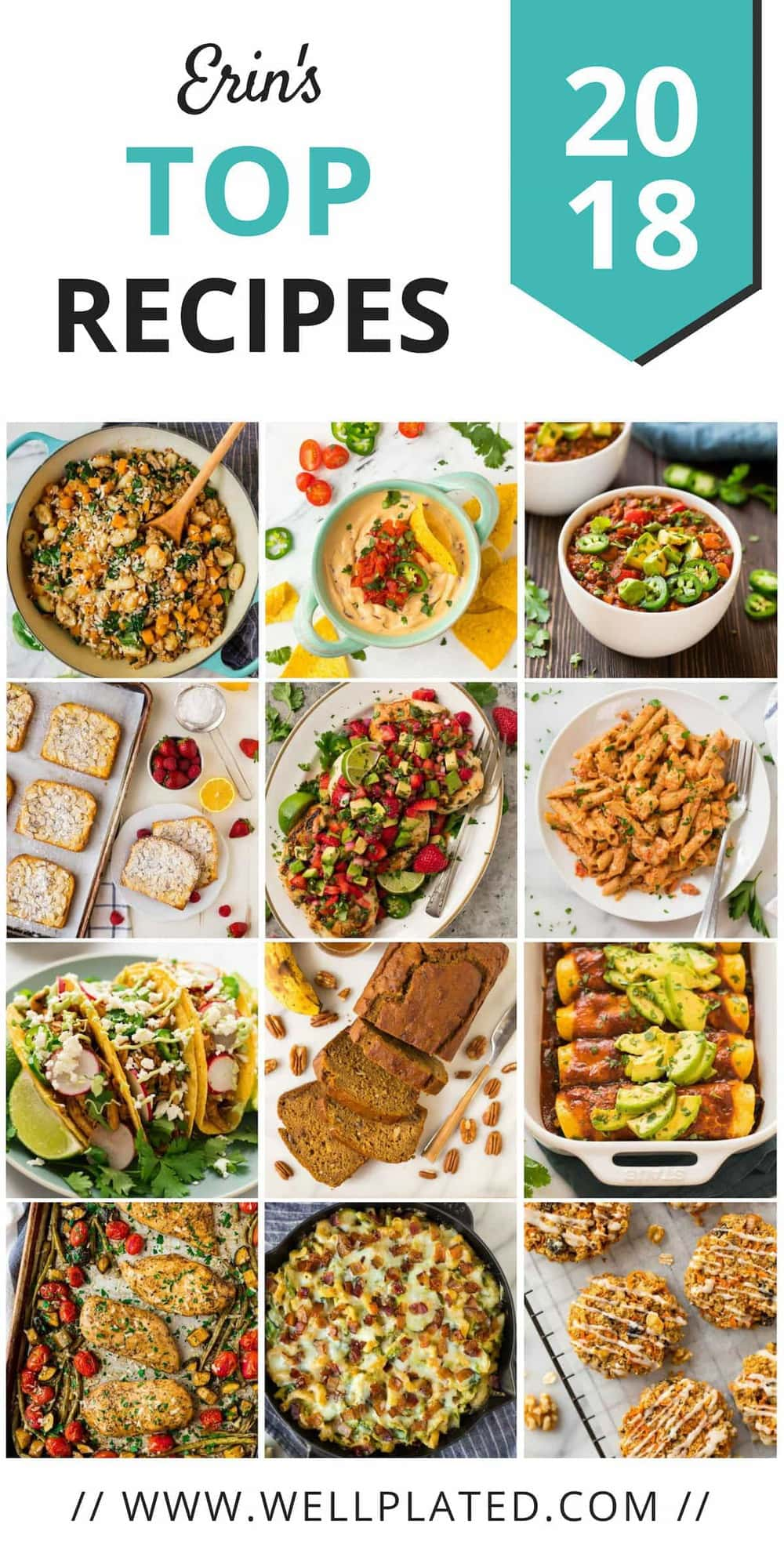 The 12 best healthy recipes of 2018. Of hundreds of recipes, these easy, family friendly dinners and breakfasts rose to the top!