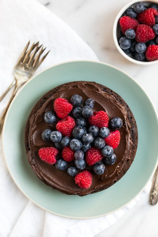 Chocolate Instant Pot Cake. Moist and delicious, topped with creamy chocolate avocado frosting.
