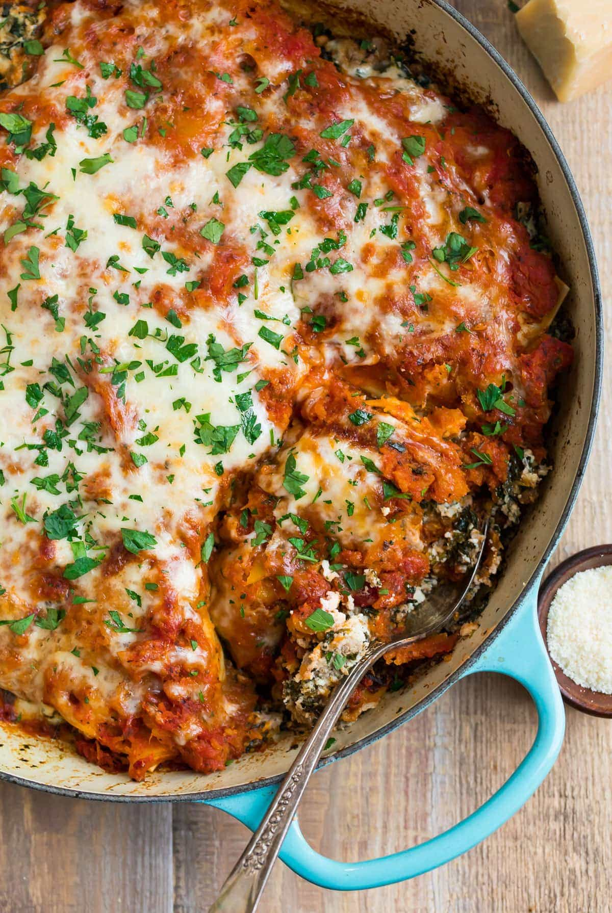 Skillet Lasagna With Italian Sausage Butternut Squash And