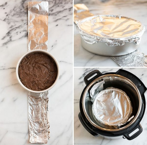 Vegan Instant Pot Cake. Chocolatey and delicious, with a creamy vegan frosting.