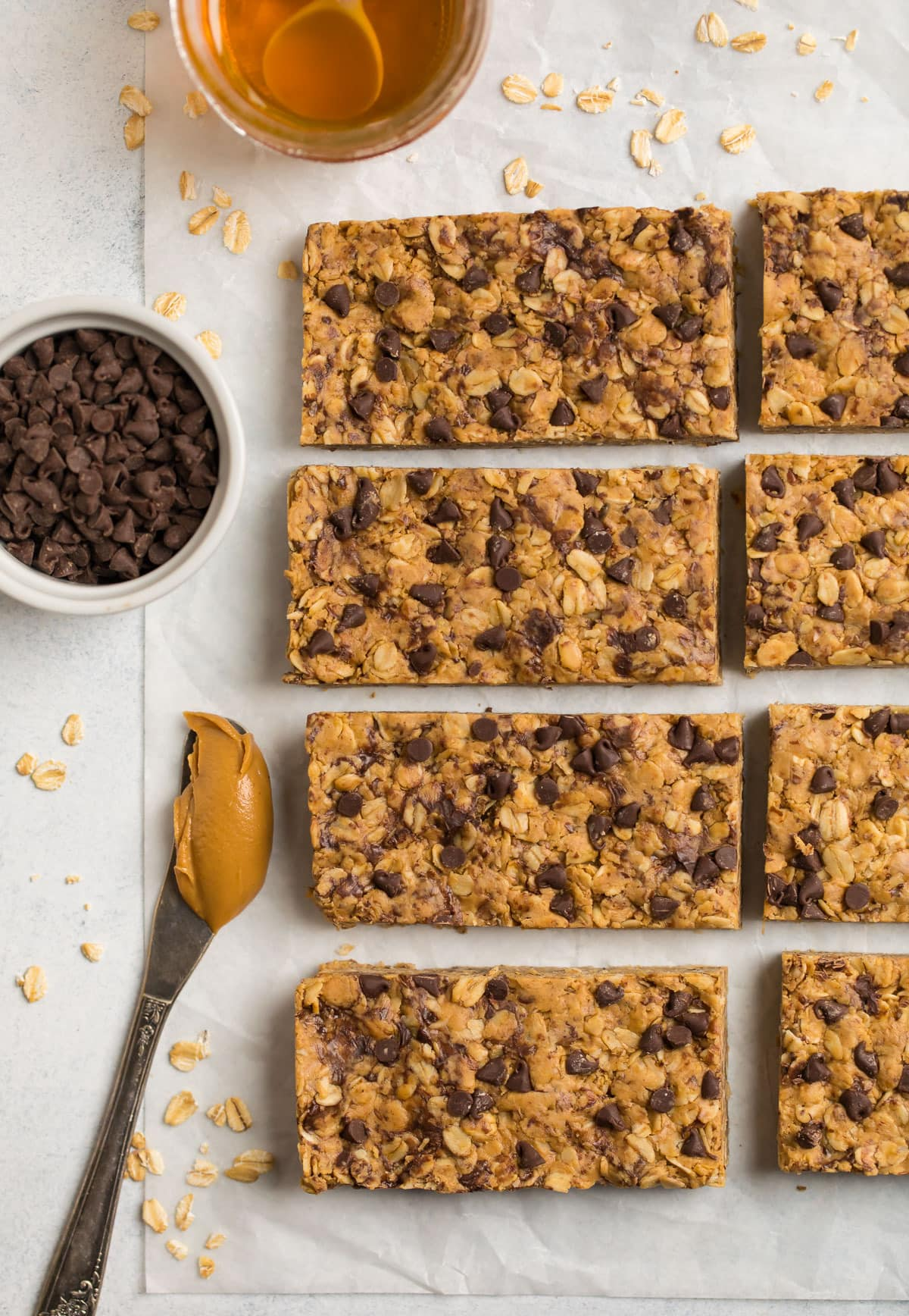 Peanut Butter Protein Bars. Soft, chewy, and made with wholesome ingredients.