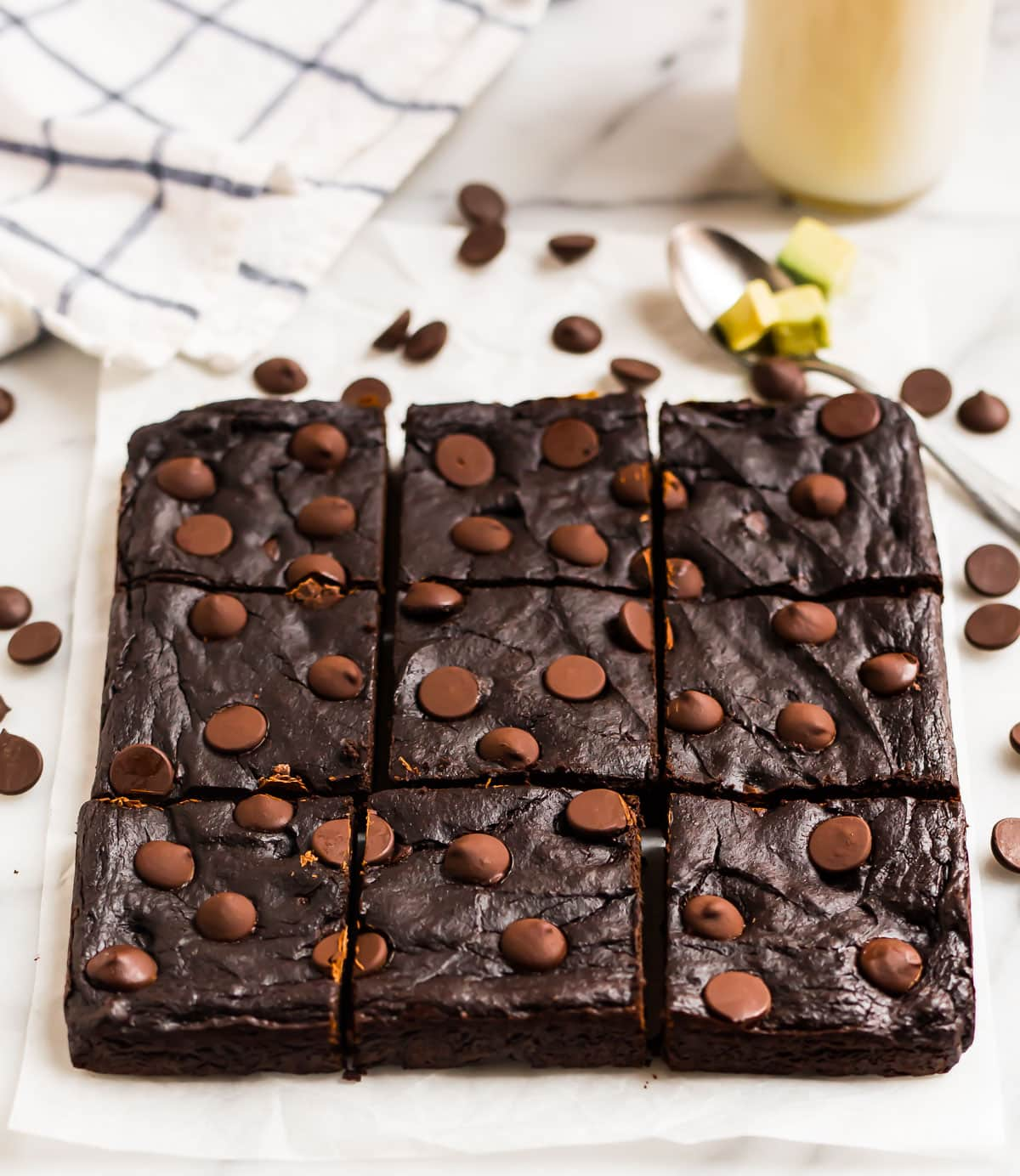 Healthy Avocado Brownies. Gluten free, grain free, and packed with chocolate!