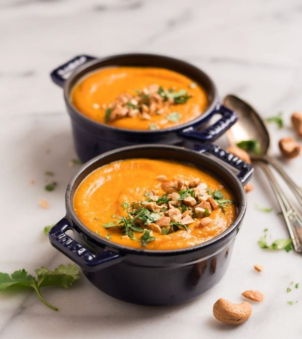 Vegan Carrot Soup with Ginger, made in the Instant Pot. Easy, healthy Instant Pot recipe.
