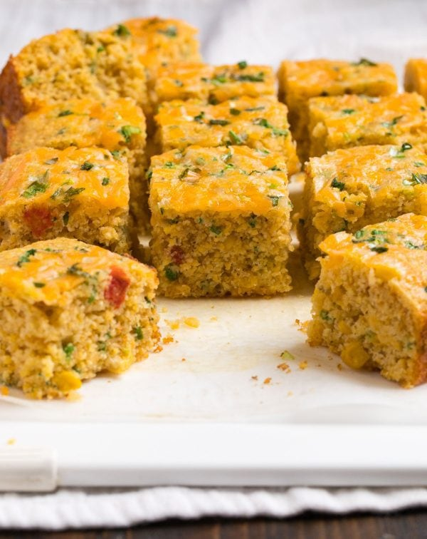 Easy Mexican Cornbread. Homemade with cheese, jalapenos, and Mexican-style corn.