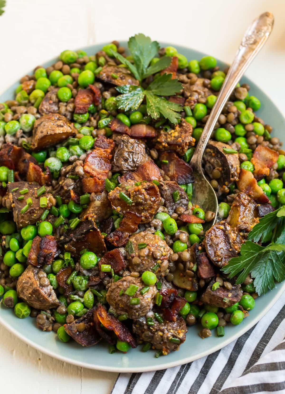 Best Pea Salad. A spring dinner favorite.