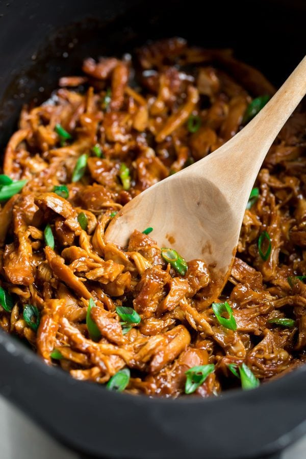 Slow Cooker Honey Garlic Chicken. This easy, healthy crock pot recipe will be a dinner hit.