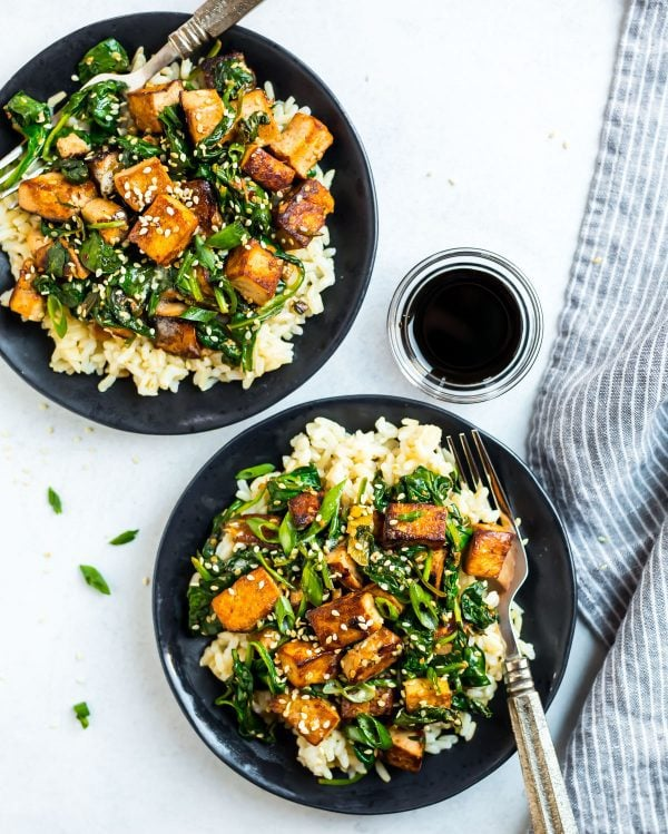 Healthy Tofu Stir Fry. A fast weeknight dinner packed with protein and vegetables.