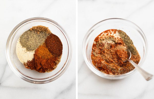 A bowl of dry rub for Instant Pot ribs