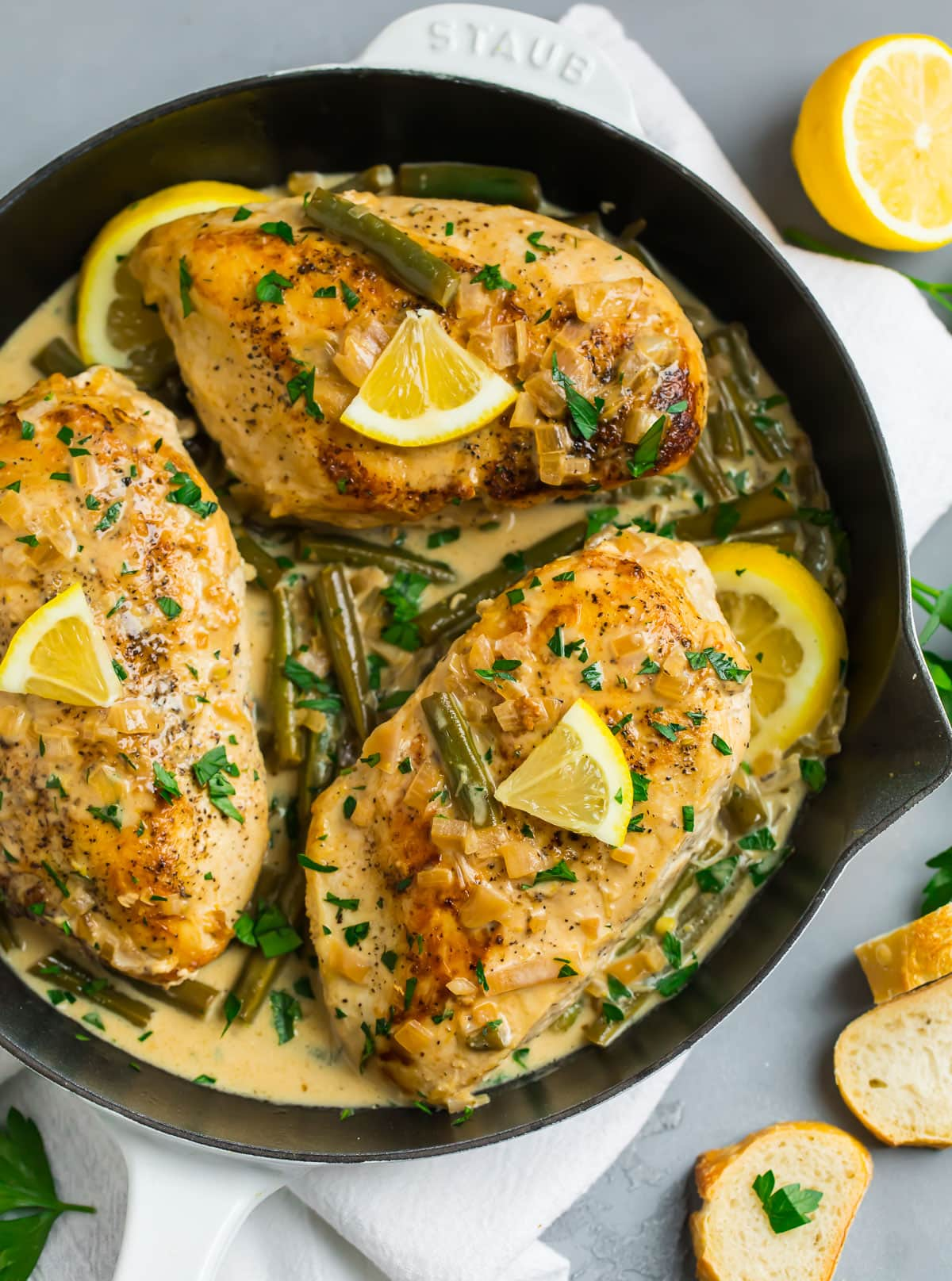 Lemon Chicken in a Skillet