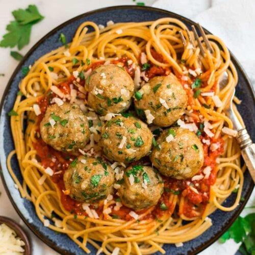 Baked Turkey Meatballs Easy Italian Recipe