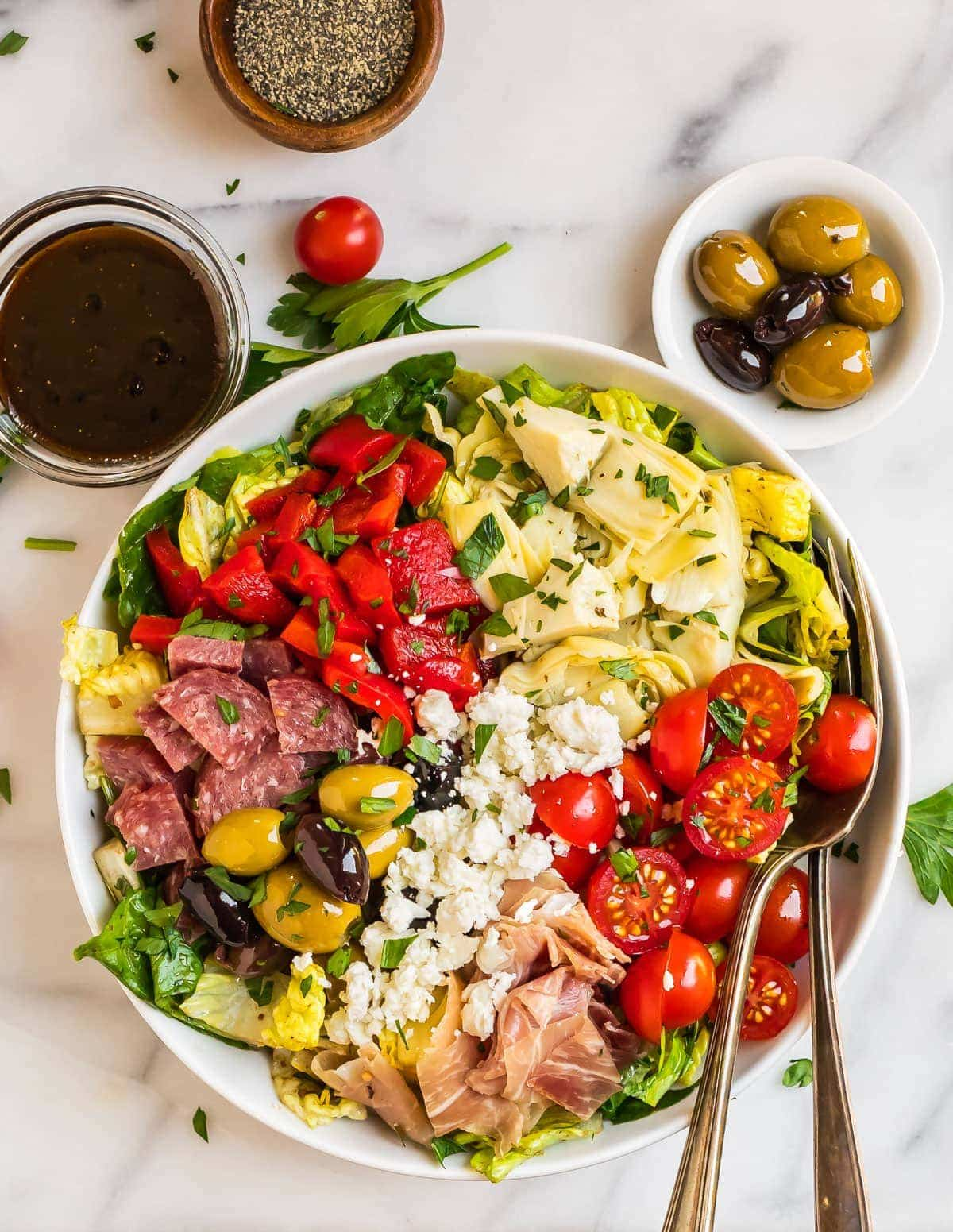 Antipasto Salad Easy Low Carb And Great For A Crowd