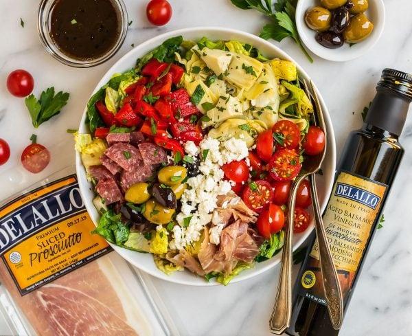 A bowl of Italian Antipasto Salad