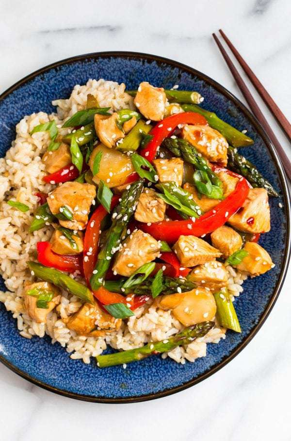 Teriyaki Chicken Stir Fry ~ Well Plated