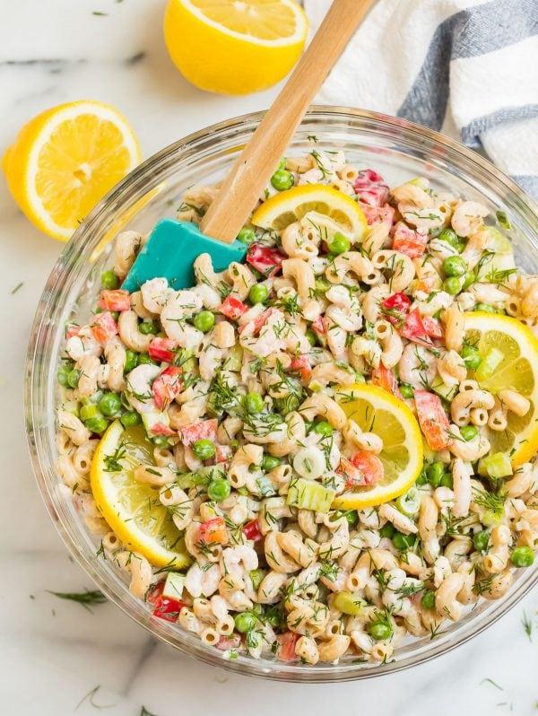 Shrimp Pasta Salad Easy Chilled Shrimp Pasta Salad Recipe
