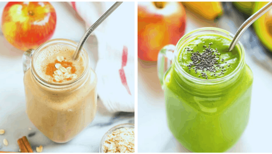 Healthy apple smoothie recipes for weight loss and for breakfast or a snack