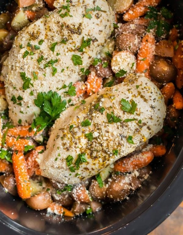 Crockpot Chicken And Potatoes With Carrots