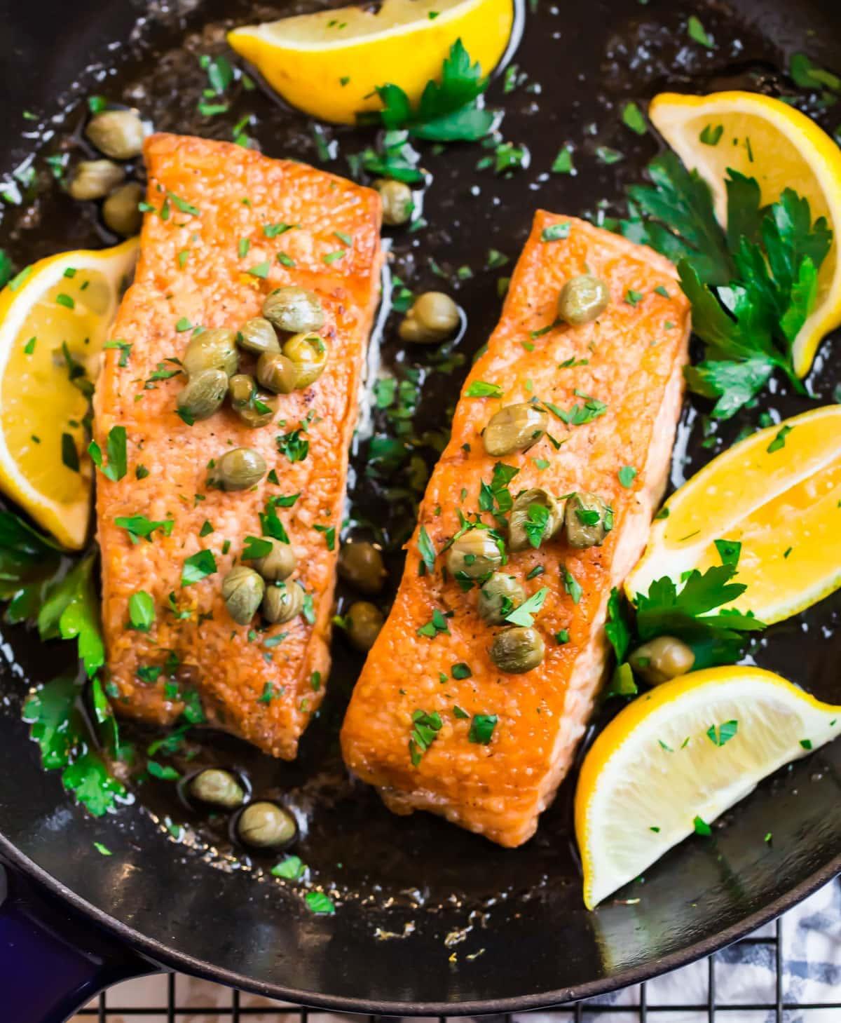 salmon meuniere sauce Salmon Meuniere