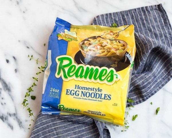 A bag of Reames egg noodles for making pressure cooker beef and noodles