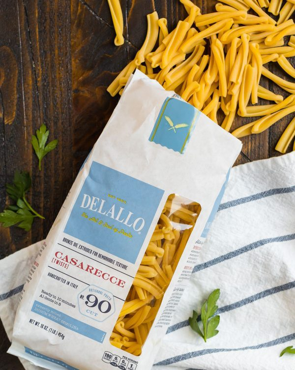 Delicious DeLallo pasta noodles in a bag for making cauliflower pasta