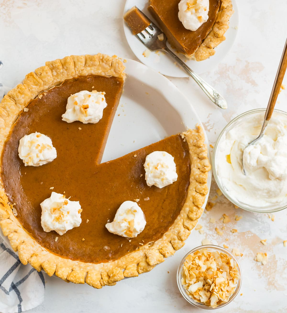 One of the best old fashioned sweet potato pie recipes served in pie dish
