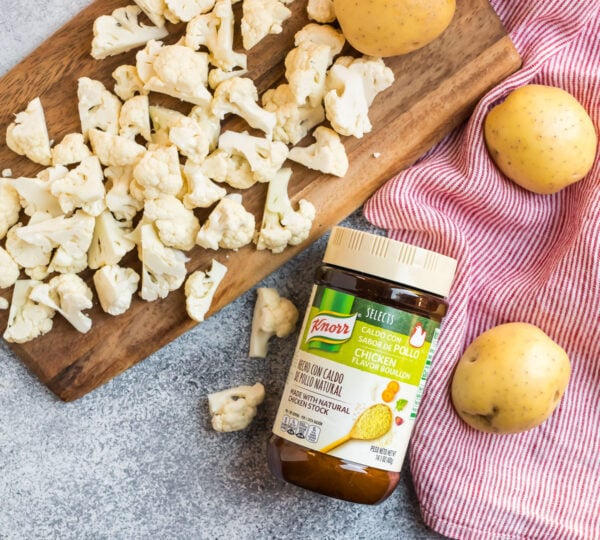 Ingredients for Instant Pot potato soup without chicken broth