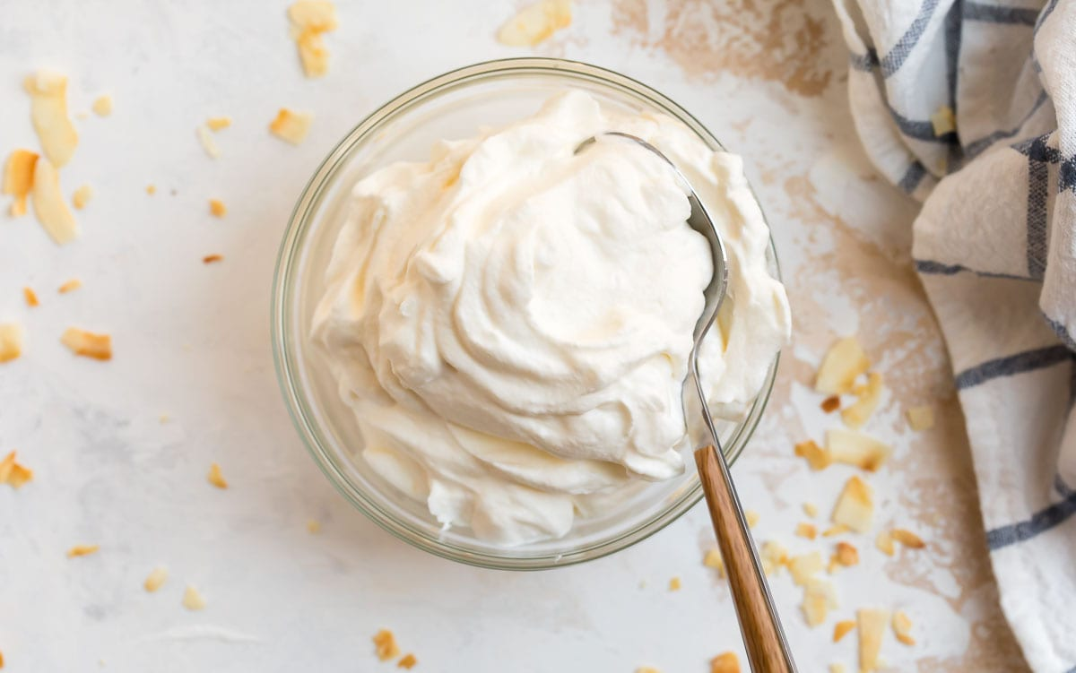 Homemade Marshmallow Whipped Cream for Old Fashioned Sweet Potato Pie