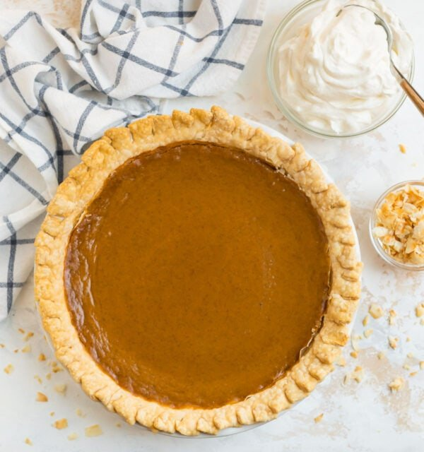 One of the best old fashioned sweet potato pie recipes served in a pie dish