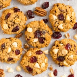Cranberry Oatmeal Cookies with White Chocolate Chips
